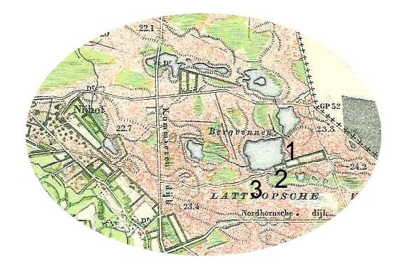 Landkaart Lattrop 1901 (Heinink-Jaan)