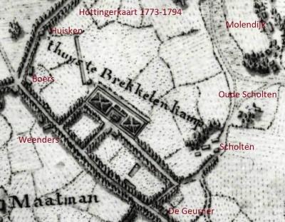 1773-1794 Hottingerkaart Scholten Breklenkamp