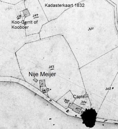 1832 Kadasterkaart Herman Schomaker Lattrop