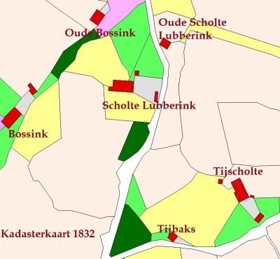 1832 Kadasterkaart Scholte Lubberink Lattrop