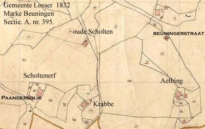 1832 Kadasterkaart Scholtenerf Beuningen