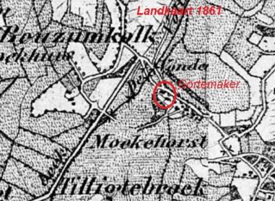 1860 Landkaart Moekehorst Tilligte