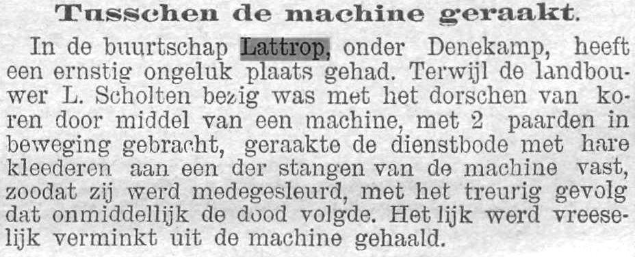 1893-12-14 Tusschen de machine geraakt Limburger Koerier