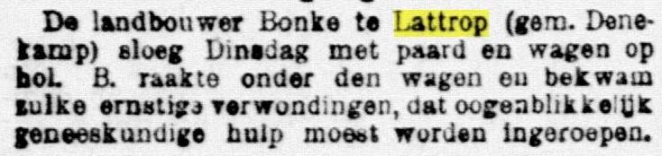 1897-12-10 Paard en wagen Bonke op hol De Telegraaf