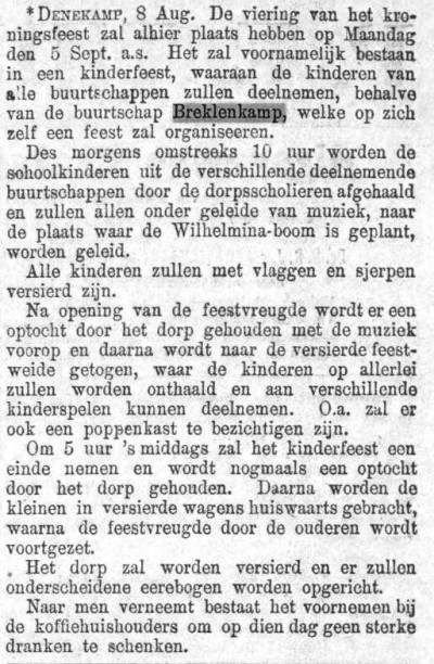 1898-08-10 Viering kroningsfeest (Prov Ov en Zwolsche Courant)