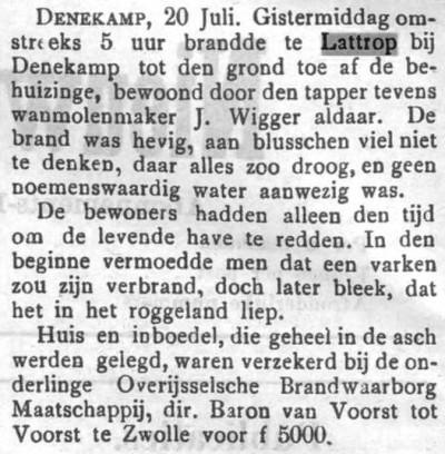 1904-07-21 Behuizing J Wigger Lattrop afgebrand (Tubantia)