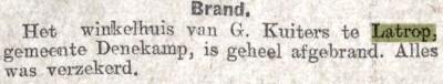 1925-03-07 Algemeen Handelsblad  winkelhuis van G Kuiters te Latrop afgebrand