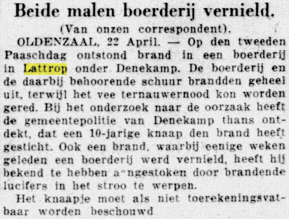 1933-04-22 Beide malen boerderij vernield De Telegraaf