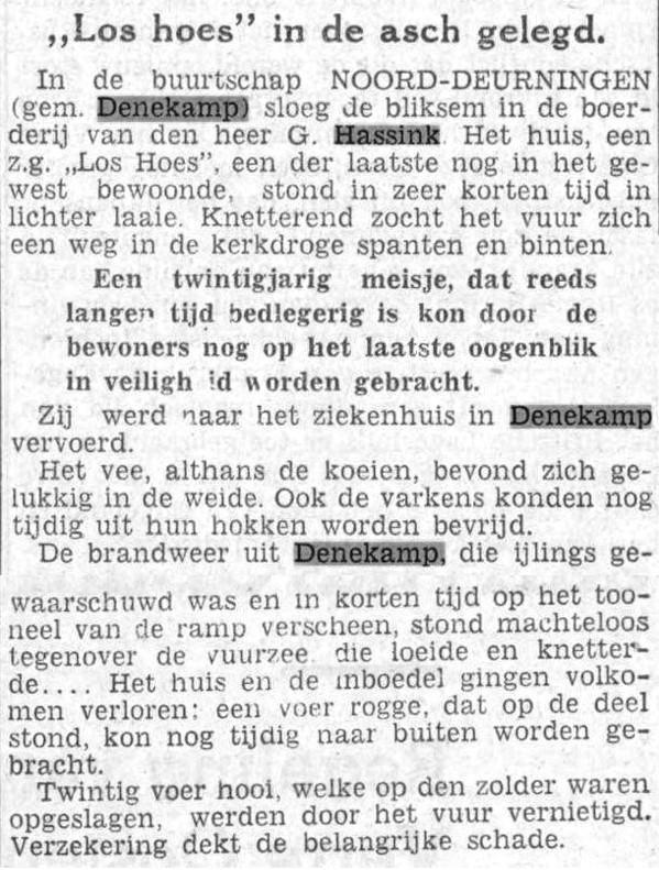1938-08-06 Twentsch dagblad Tubantia 'Los hoes in de asch gelegd...'