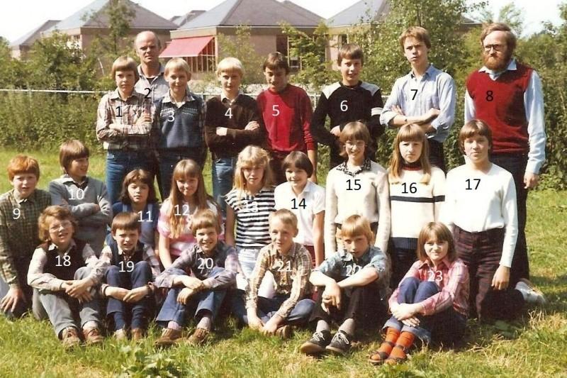 Klassenfoto Lattrop Jaar 1981
