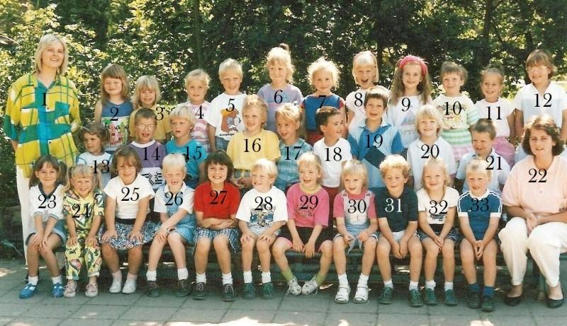 Klassenfoto Lattrop 1989-1990 groep 1-2