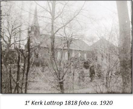 1e Kerk Lattrop 1818 foto ca 1920