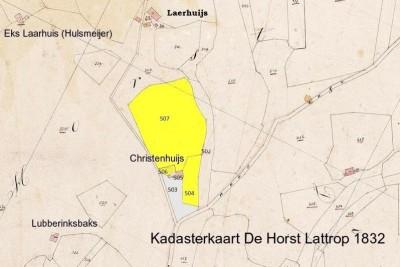 Kadasterkaart Cristenhuis Lattrop 1832