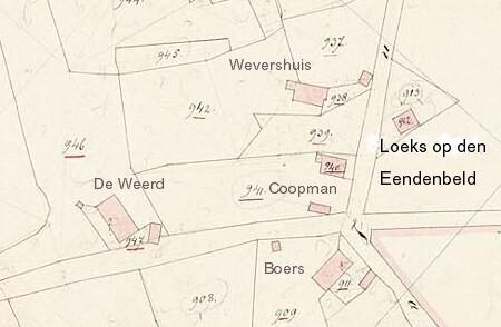 Kadasterkaart 1832 Coopman Breklenkamp