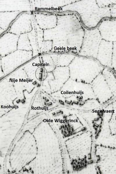 Capitein Lattrop Hottinger kaart 1773-1794
