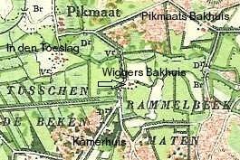 Landkaart 1901