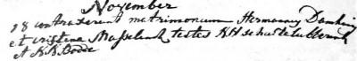 RC trouwboek Ootmarssum 18-11-1764
