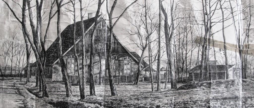 Pentekening boerderij familie Goeneveld-Borggreve Lattrop (door F vd Bij)