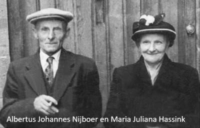 Albertus Johannes Nijboer en Matia Juliana Hassink in Noord Deurningen