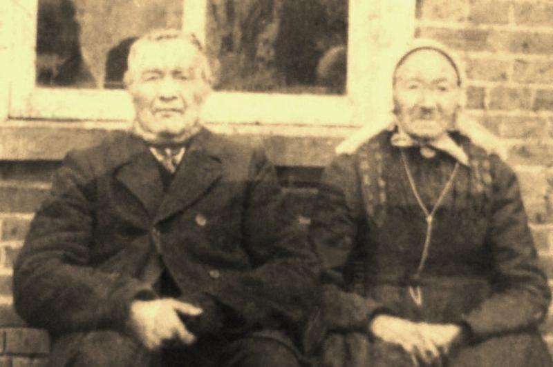 Albertus Beijerink en Maria Gerwers (Evertshuis) Tilligte (Foto voor 1918)