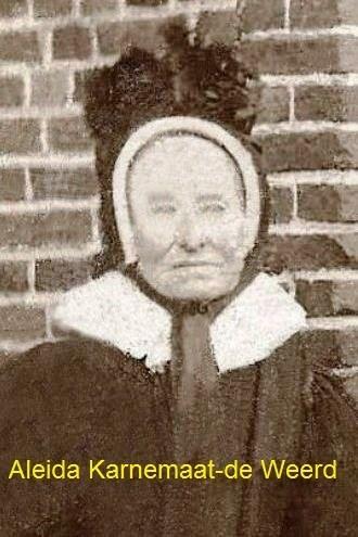 Aleida Karnemaat-deWeerd Breklenkamp geb 1851