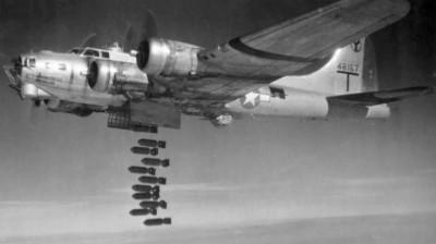 Amerikanischer Bomber vom Typ B-17 (Fliegende Festung)