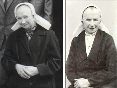 Anna Johanna (Jannoa) Roelofs-Ruël Breklenkamp en Maria (Mei) Pikkemaat-Ruël in Lattrop