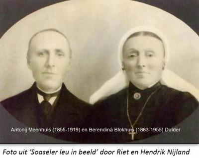 Antonij Meenhuis (1855-1919) en Berendina Blokhuis (1863-1955) Dulder