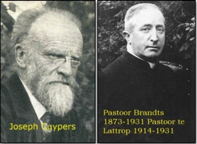Architect Joseph Kuypers en pastoor Brandts in Lattrop