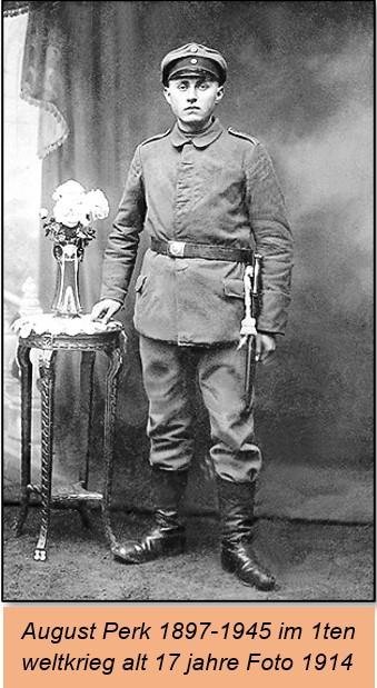 August Perk 1897-1945 im 1ten Weltkrieg alt 17 jahre foto 1914