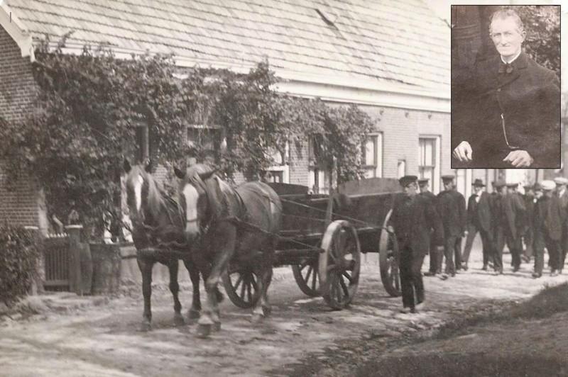 Begrafenis Hendrik Jan Cristian Bergman Breklenkamp 20 juli 1934 (Foto Molenstraat Ootmarsum)