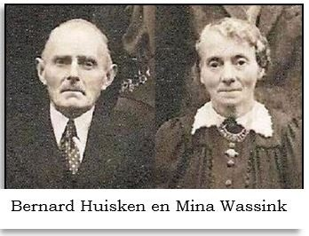 Bernard Huisken en Mina Wassink (op Sourman of Sniedershuis) Breklenkamp