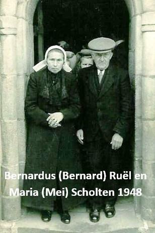 Bernardus (Bernard) Ruël en Maria (Mei) Scholten 1948