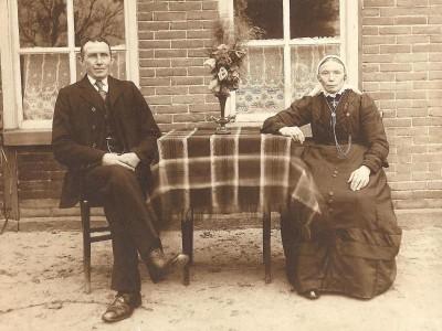 Bernardus Fox  en  Gezina  Tijscholte Lattrop (Foto J Swaab Amsterdam)