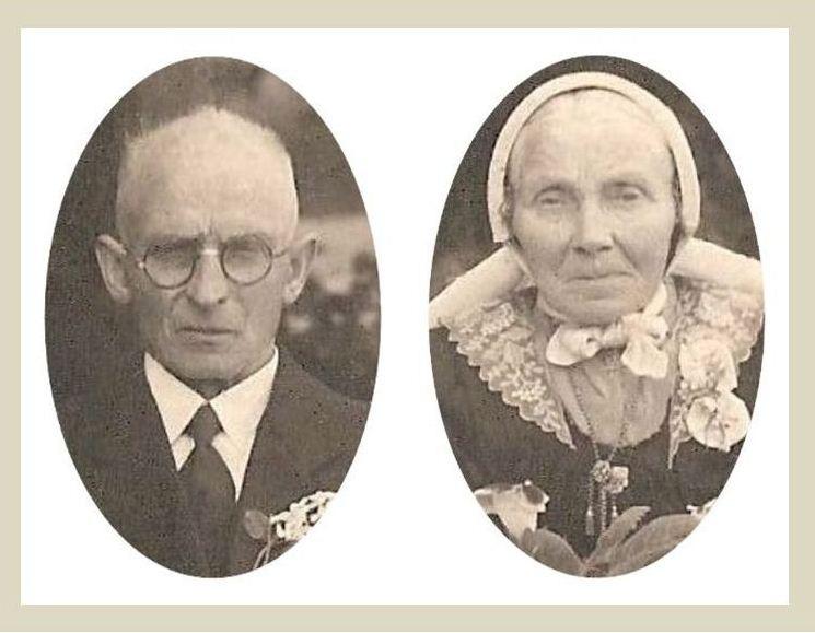 Bernardus  Koehorst (1876-1947) en  Johanna  Keujer (1865-1943) (Foto Lattrop 1942)