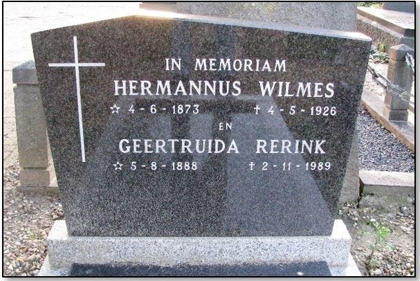 Bidprentje Hermannus Wilmes 1873-1926