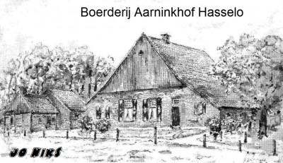 Boerderij Aarninkhof in Hasselo Tekening Jo Niks