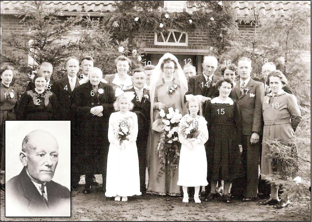 Bruiloft  Bernard Niehof en  Marie Rikkink Lattrop 18-10-1950