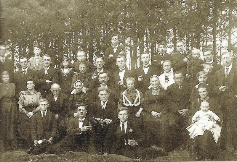 Bruiloft Johan Huiskes en Mina Kattier Zuid-Berghuizen 1922