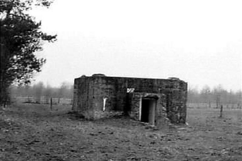 Restant van de bunker bij het Ageler Broek