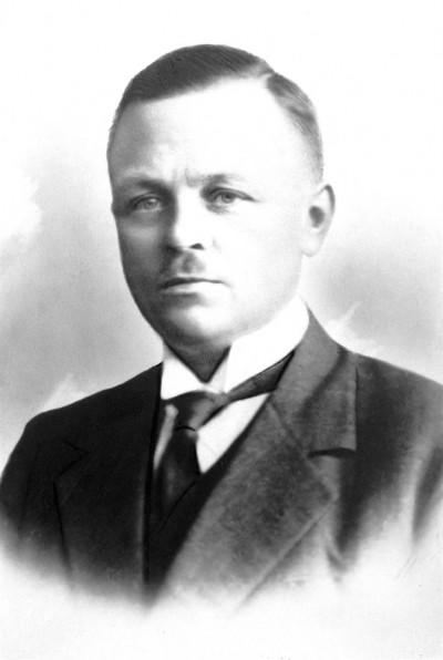 Burgemeester Wynia, in 1934 verongelukt.