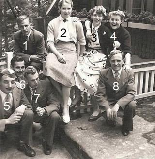 Busreis Durido Lattrop naar Tecklenburg in Duitsland 1955