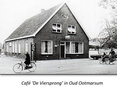 Café 'De Viersprong' in Oud Ootmarsum