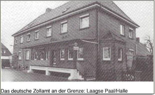 Das deutsche Zollamt an der Grenze Laagse Paal-Halle
