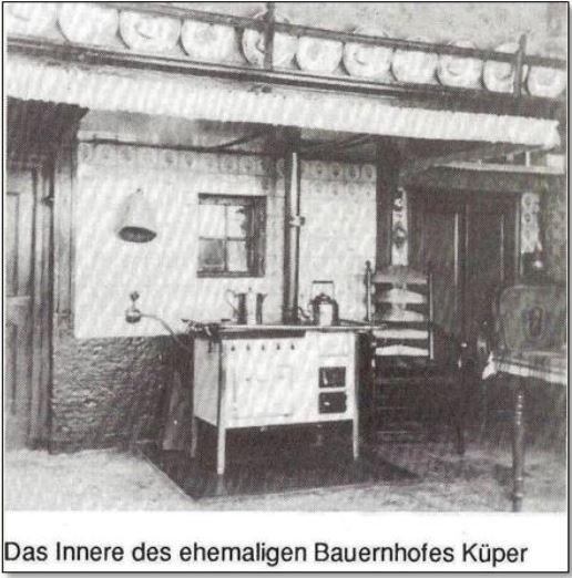 Das Innere des ehemaligen Bauernhofes Küper
