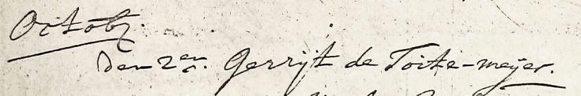 de Toite-meijer Gerrijt 02-10-1714
