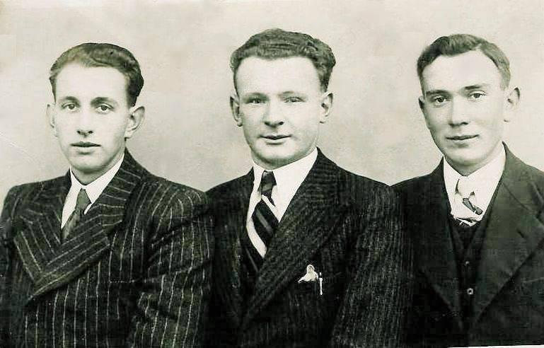 Vlnr: Bernard Teders, Johan Blokhuis en Toon Bruns