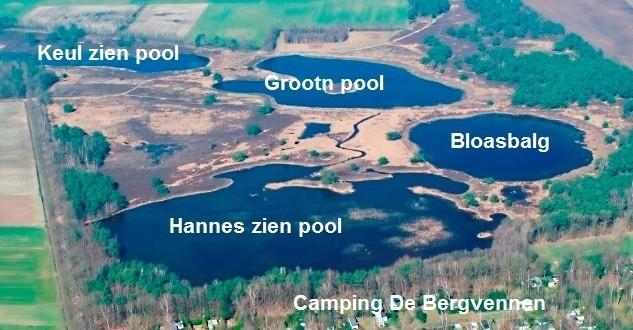 Luchtfoto De Bergvennen in Lattrop