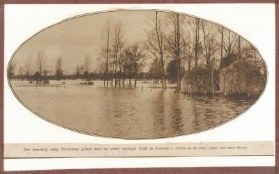Denekamp boerderij omringd door water 7-12-1928