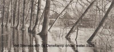 Denekamp het Sterrebosch onder water 7-12-1928